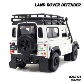 โมเดลรถ LAND ROVER DEFENDER สีขาว (Scale 1:24) โมเดลรถสะสม แนวออฟโรด