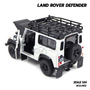 โมเดลรถ LAND ROVER DEFENDER สีขาว (Scale 1:24) โมเดลรถสะสม เปิดประตูรถได้เหมือนจริง