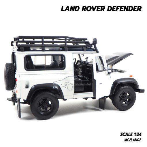 โมเดลรถ LAND ROVER DEFENDER สีขาว (Scale 1:24) โมเดลรถสะสม ภายในรถสมจริง