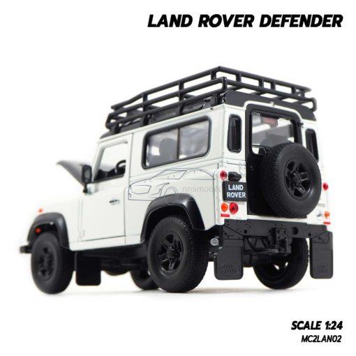 โมเดลรถ LAND ROVER DEFENDER สีขาว (Scale 1:24) โมเดลรถสะสม มียางอะไหล่เหมือนจริง