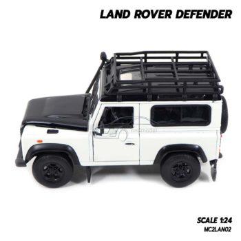 โมเดลรถ LAND ROVER DEFENDER สีขาว (Scale 1:24) โมเดลรถสะสม มีแรคหลังคาเหมือนจริง