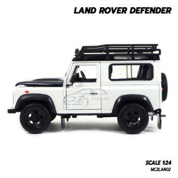 โมเดลรถ LAND ROVER DEFENDER สีขาว (Scale 1:24) โมเดลรถสะสม ประกอบสำเร็จพร้อมตั้งโชว์