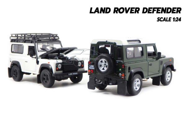 โมเดลรถ LAND ROVER DEFENDER สีขาว (Scale 1:24) โมเดลรถสะสม มี 2 แบบ