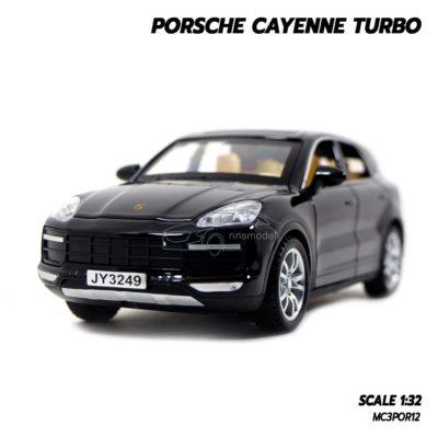 โมเดลรถ Porsche Cayenne Turbo สีดำ (1:32)