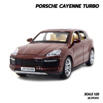 โมเดลรถ Porsche Cayenne Turbo สีน้ำตาล (1:32)