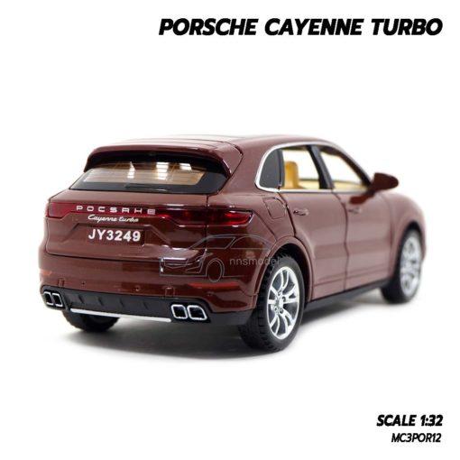 โมเดลรถ Porsche Cayenne Turbo สีน้ำตาล (1:32) รถจำลองเหมือนจริง