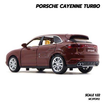 โมเดลรถ Porsche Cayenne Turbo สีน้ำตาล (1:32) โมเดลรถเหล็ก ของขวัญวันเกิด
