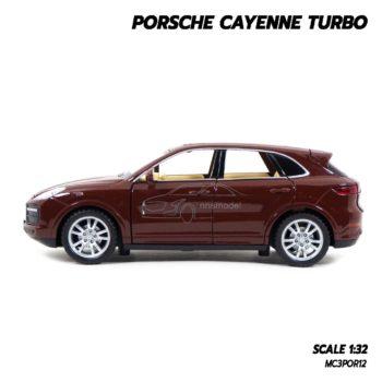 โมเดลรถ Porsche Cayenne Turbo สีน้ำตาล (1:32) โมเดลรถเหล็ก มีลานดึงปล่อยรถวิ่งได้