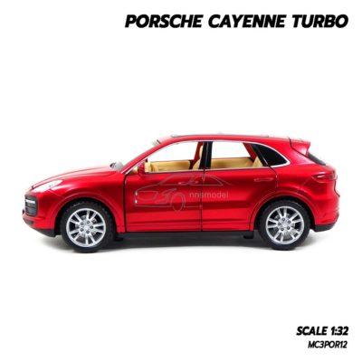 โมเดลรถ Porsche Cayenne Turbo สีแดง (1:32) รถของเล่น พร้อมตั้งโชว์