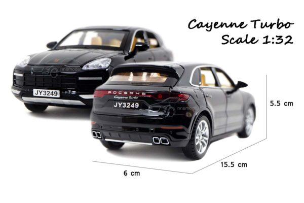 โมเดลรถ Porsche Cayenne Turbo (1:32) ขนาดของโมเดลรถ