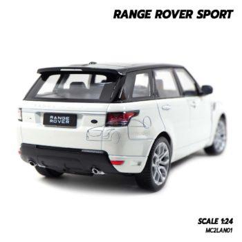 โมเดลรถ RANGE ROVER SPORT สีขาว (Scale 1:24) โมเดลรถเหมือนจริง