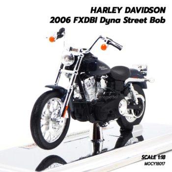 โมเดลฮาเล่ย์ HARLEY DAVIDSON 2006 FXDBI Dyna Street Bob (1:18)