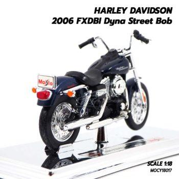 โมเดลฮาเล่ย์ HARLEY DAVIDSON 2006 FXDBI Dyna Street Bob (1:18) โมเดลจำลองเหมือนจริง