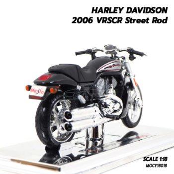 โมเดลฮาเล่ย์ HARLEY DAVIDSON 2006 VRSCR Street Rod (1:18) โมเดลประกอบสำเร็จ