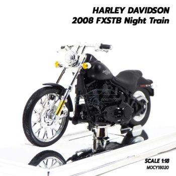 โมเดลฮาเล่ย์ HARLEY DAVIDSON 2008 FXSTB Night Train (1:18)