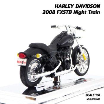 โมเดลฮาเล่ย์ HARLEY DAVIDSON 2008 FXSTB Night Train (1:18) โมเดลจำลองเหมือนจริง