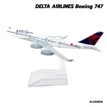 เครื่องบินโมเดล DELTA AIRLINES Boeing 747 (16 cm)