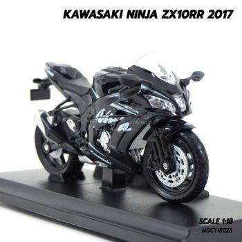 โมเดลบิ๊กไบค์ KAWASAKI NINJA ZX10RR 2017 (1:18) โมเดลประกอบสำเร็จ พร้อมตั้งโชว์