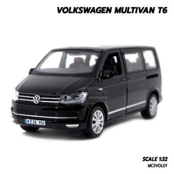 โมเดลรถตู้ VOLKSWAGEN MULTIVAN T6 สีดำ จำลองเหมือนจริง