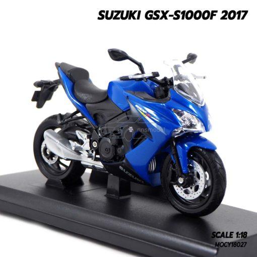 โมเดลรถบิ๊กไบค์ SUZUKI GSX-S1000F 2017 (1:18) โมเดลรถสะสม ประกอบสำเร็จ พร้อมฐานตั้งโชว์