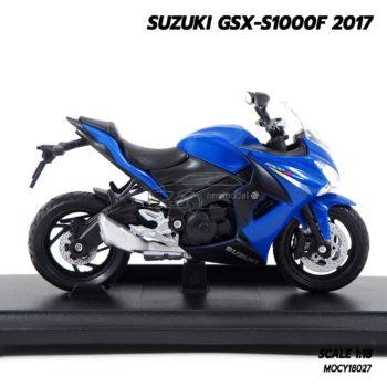 โมเดลรถบิ๊กไบค์ SUZUKI GSX-S1000F 2017 (1:18) โมเดลรถสะสม ประกอบสำเร็จ เหมือนจริง