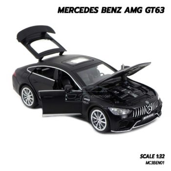 โมเดลรถเบนซ์ MERCEDES BENZ AMG GT63 สีดำด้าน (1:32) รถหล็กโมเดล เปิดได้ครบ