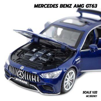 โมเดลรถเบนซ์ MERCEDES BENZ AMG GT63 สีน้ำเงิน (1:32) เครื่องยนต์สมจริง