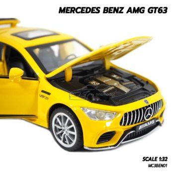 โมเดลรถเบนซ์ MERCEDES BENZ AMG GT63 สีเหลือง (1:32) โมเดลรถเหล็ก ราคาถูก
