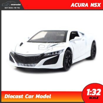 โมเดลรถเหล็ก ACURA NSX (Scale 1:32) สีขาว โมเดลรถมีเสียงมีไฟ