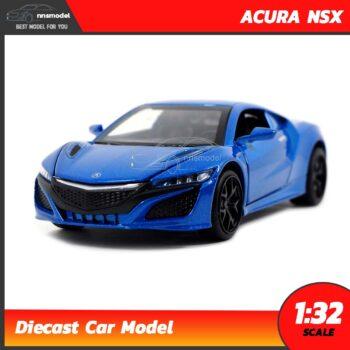 โมเดลรถเหล็ก ACURA NSX (Scale 1:32) สีน้ำเงิน โมเดลรถมีเสียงมีไฟ
