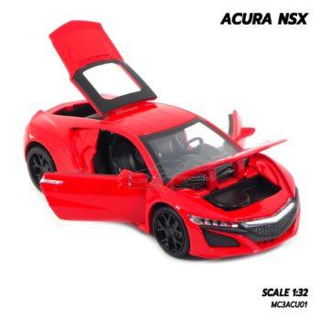 โมเดลรถ ACURA NSX สีแดง (1:32) รถเหล็กจำลอง เปิดได้ครบ