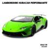 โมเดลรถ Lamborghini Huracan Performante สีเขียว (1:18)