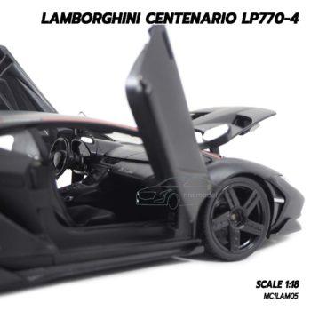 โมเดล แลมโบกินี่ LAMBORGHINI CENTENARIO LP770-4 สีดำด้าน (1:18) โมเดลประกอบสำเร็จ ภายในรถสวยเหมือนรถจริง