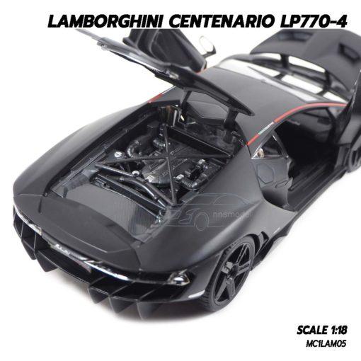 โมเดล แลมโบกินี่ LAMBORGHINI CENTENARIO LP770-4 สีดำด้าน (1:18) โมเดลรถเหล็ก เครื่องยนต์จำลองสมจริง
