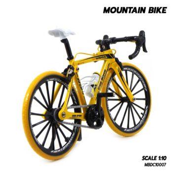 โมเดลจักรยาน เสือหมอบ MOUNTAIN BIKE สีเหลือง (1:10)