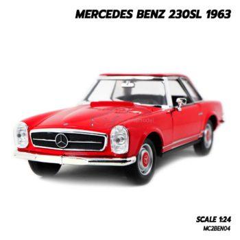 โมเดลรถคลาสสิค MERCEDES BENZ 230SL 1963 สีแดง (1:24)