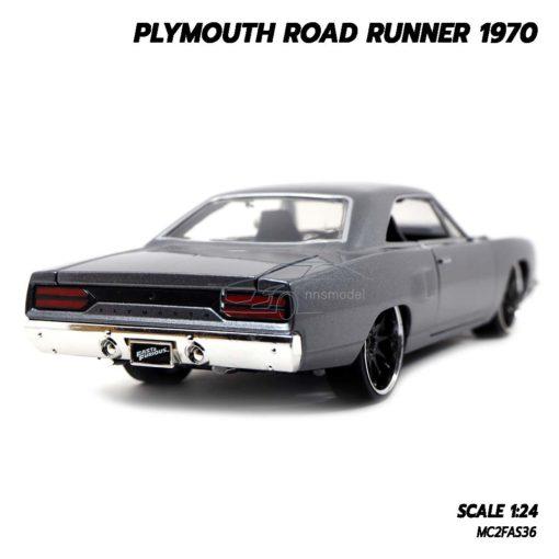 โมเดลรถฟาส PLYMOUTH ROAD RUNNER 1970 (1:24) โมเดลรถเหล็ก ประกอบสำเร็จ