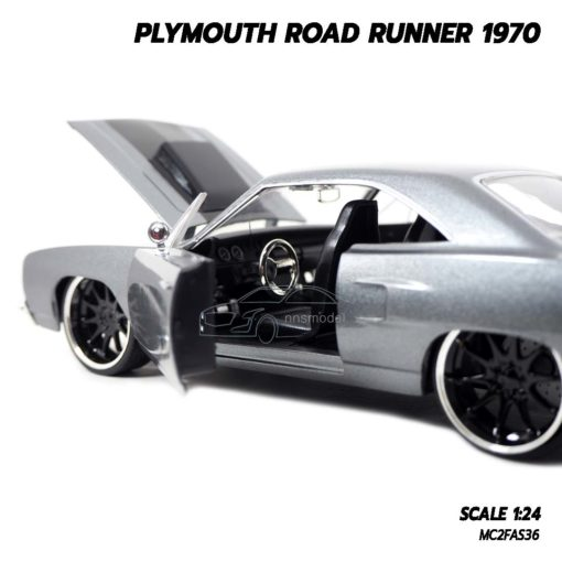 โมเดลรถฟาส PLYMOUTH ROAD RUNNER 1970 (1:24) โมเดลรถเหล็ก ภายในเหมือนจริง
