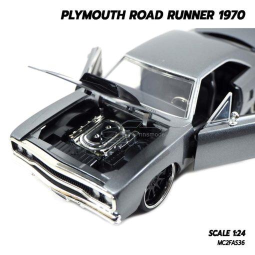 โมเดลรถฟาส PLYMOUTH ROAD RUNNER 1970 (1:24) โมเดลรถเหล็ก เครื่องยนต์เหมือนจริง