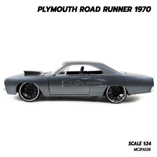 โมเดลรถฟาส PLYMOUTH ROAD RUNNER 1970 (1:24) โมเดลรถเหล็ก ของขวัญของสะสม