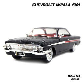 โมเดลรถ CHEVROLET IMPALA 1961 สีดำ (1:24) รถเหล็ก ของสะสม Jada