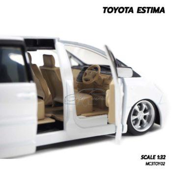 โมเดลรถ TOYOTA ESTIMA สีขาว (Scale 1:32) โมเดลรถเหล็ก ภายในรถเหมือนจริง
