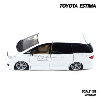 โมเดลรถ TOYOTA ESTIMA สีขาว (Scale 1:32) โมเดลรถเหล็ก พร้อมตั้งโชว์
