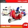 โมเดลเวสป้าคลาสสิค 3 ล้อ Vespa Classic สีแดง