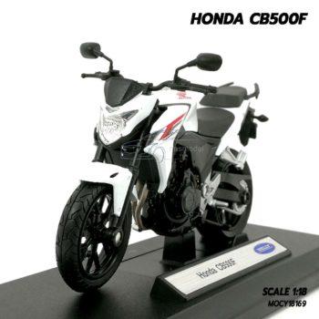 โมเดลรถสะสม HONDA CB500F สีขาว (1:18)