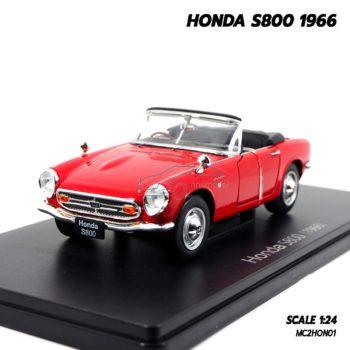 โมเดลรถคลาสสิค HONDA S800 1966 สีแดง (1:24)