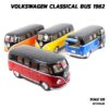 โมเดลรถตู้ คลาสสิค Volkswagen Bus 1962 สีน้ำเงิน (Scale 1:32) โมเดลรถสะสม มี 4 สีให้เลือกสะสม
