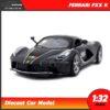 โมเดลรถเหล็ก FERRARI FXX K (Scale 1:32) โมเดลเฟอร์รารี่ มีเสียงมีไฟ สีดำเทา