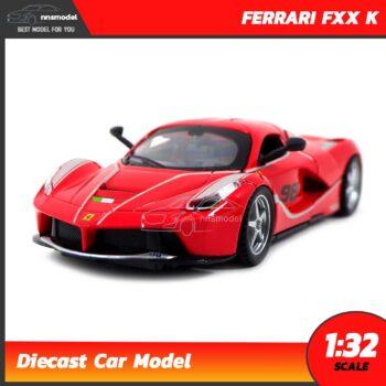 โมเดลรถเหล็ก FERRARI FXX K (Scale 1:32) โมเดลเฟอร์รารี่ มีเสียงมีไฟ สีแดง