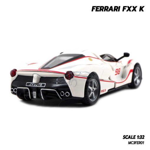 โมเดลรถเหล็ก FERRARI FXX K สีขาว (1:32) มีเสียงมีไฟ